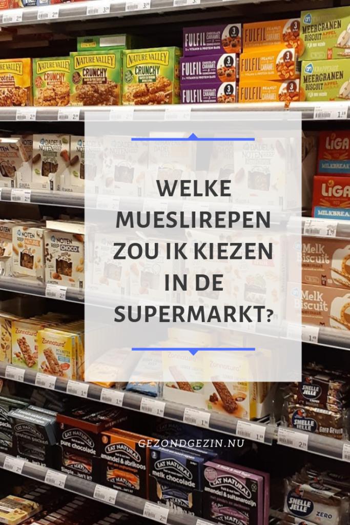 Welke mueslirepen zou ik kiezen in de supermarkt