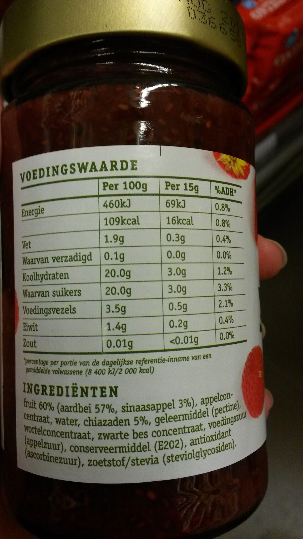 Etiket chia fruit