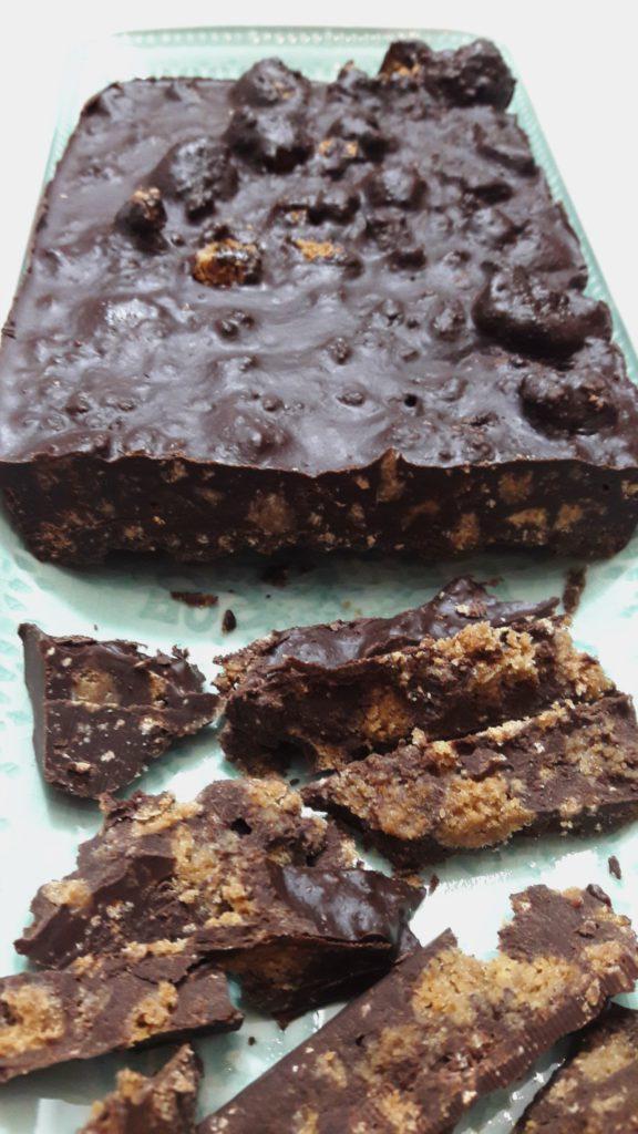 Chocolade pepernoten koek