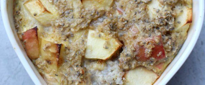 Havermout – appeltaartje uit de oven