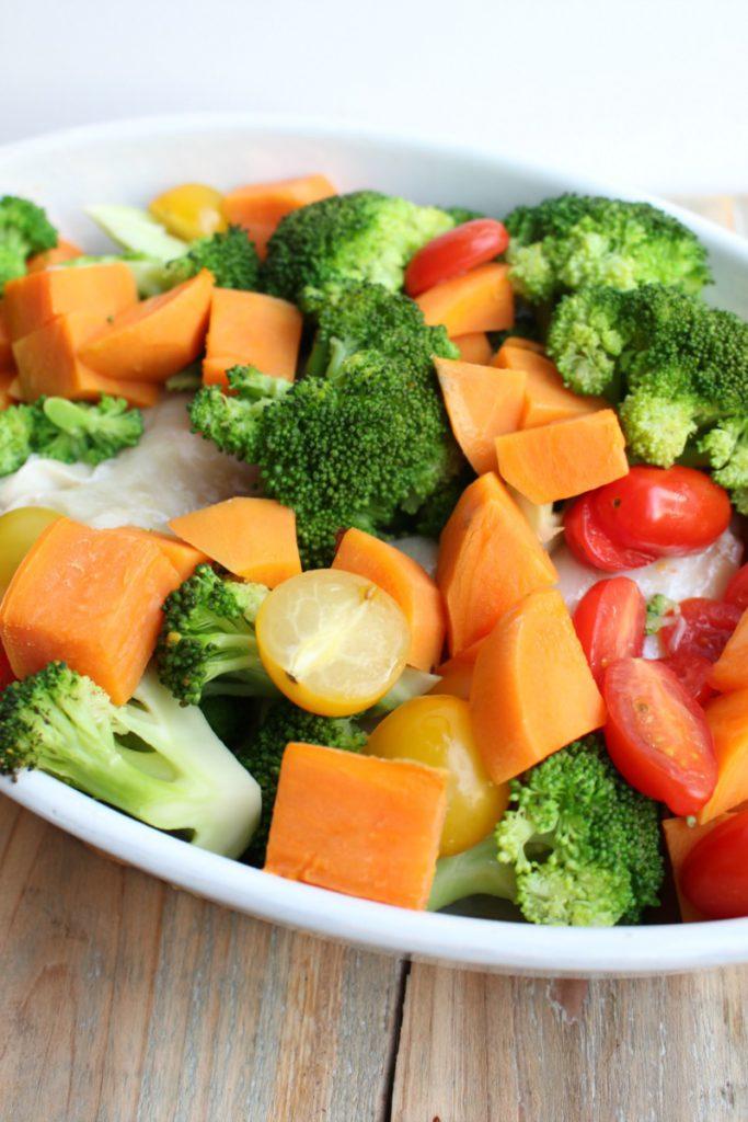 ovenschotel met kabeljauw en groenten