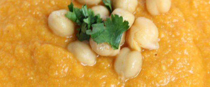 Rode linzen – wortelsoep met kikkererwten
