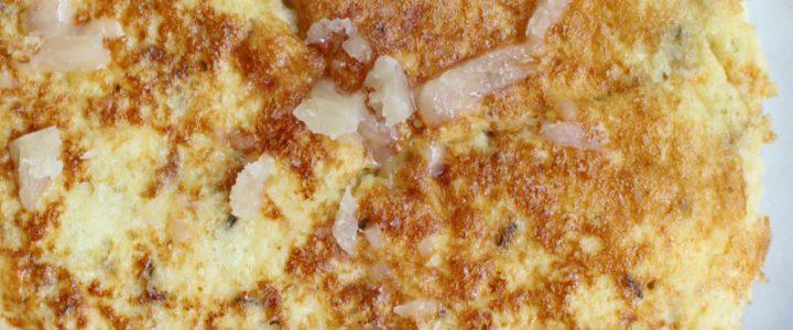 Omelet met bloemkoolrijst