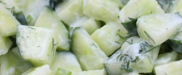 Verfrissende komkommersalade