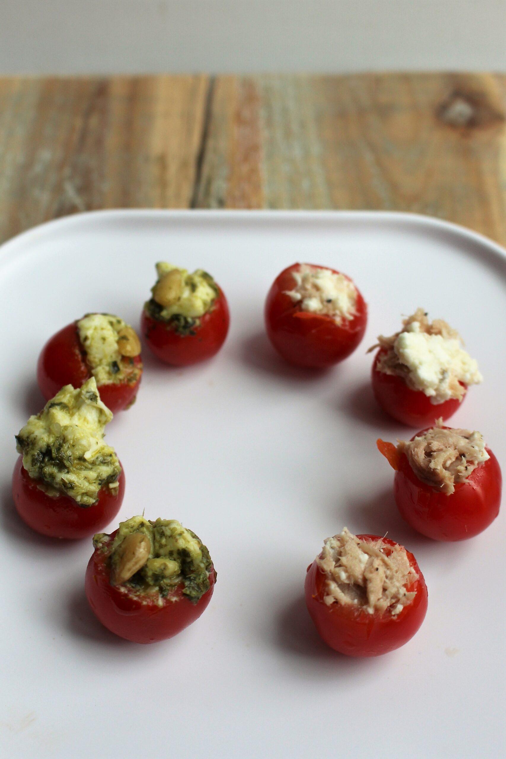 Gevulde tomaatjes – op 2 manieren
