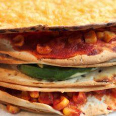 Vegetarische Mexicaanse tortillataart