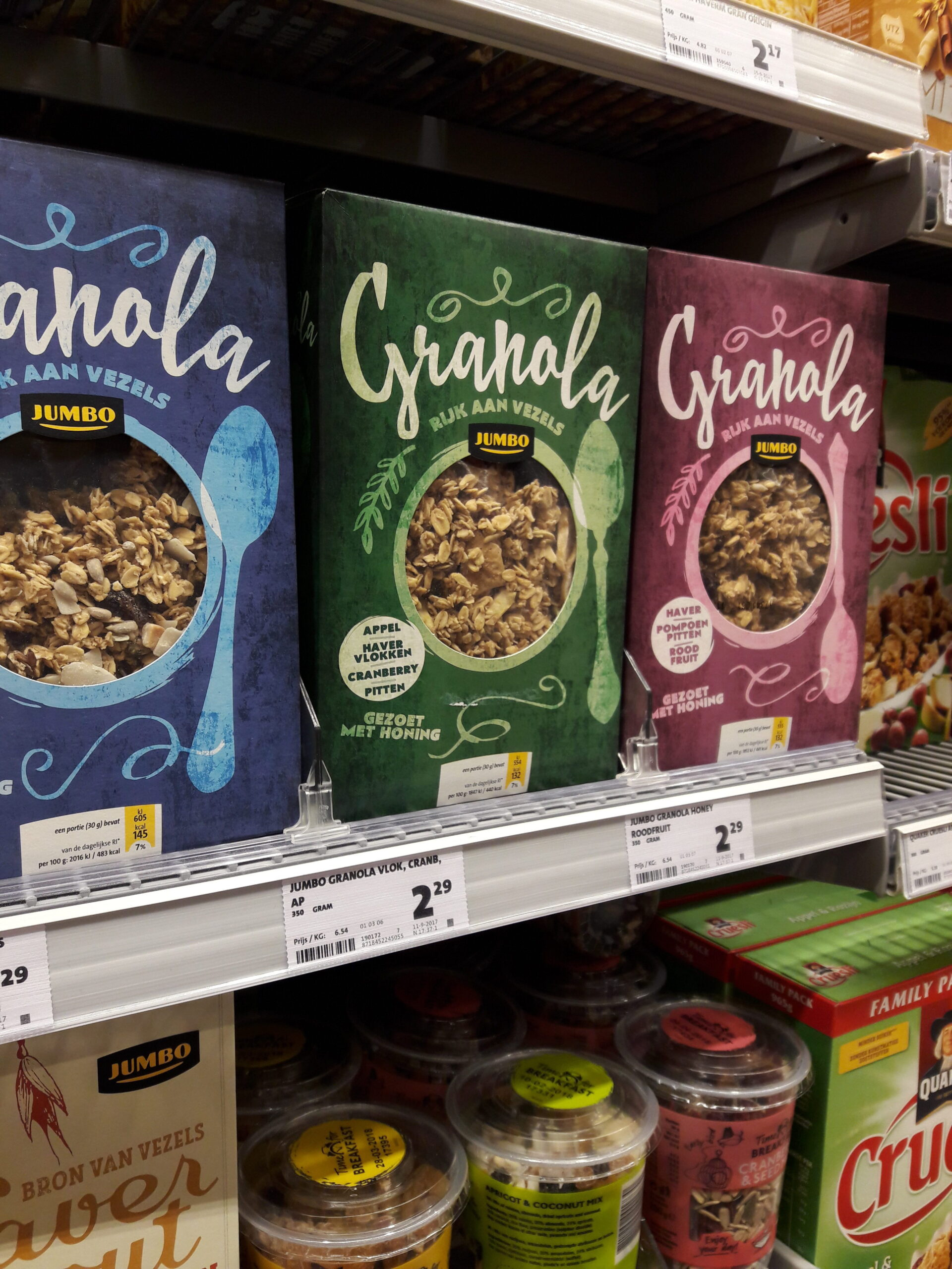 Welke granola zou ik kiezen uit de supermarkt?