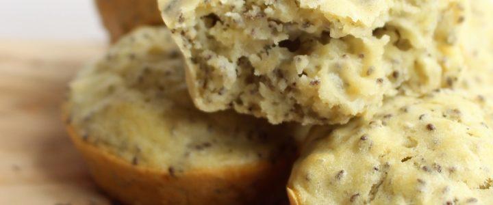 Muffins met citroen en chiazaad