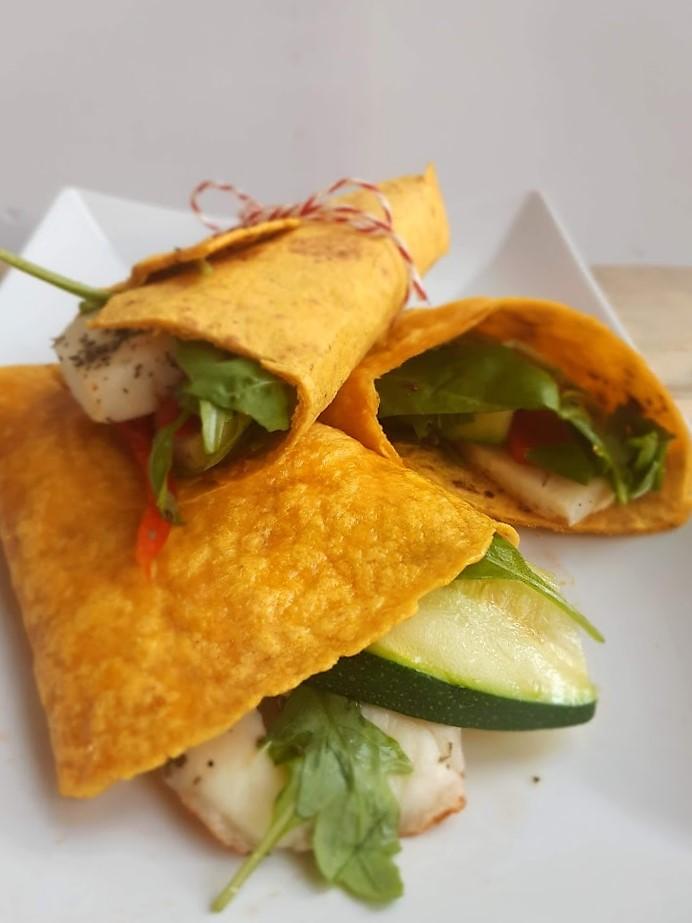 recept voor wrap met halloumi en groenten