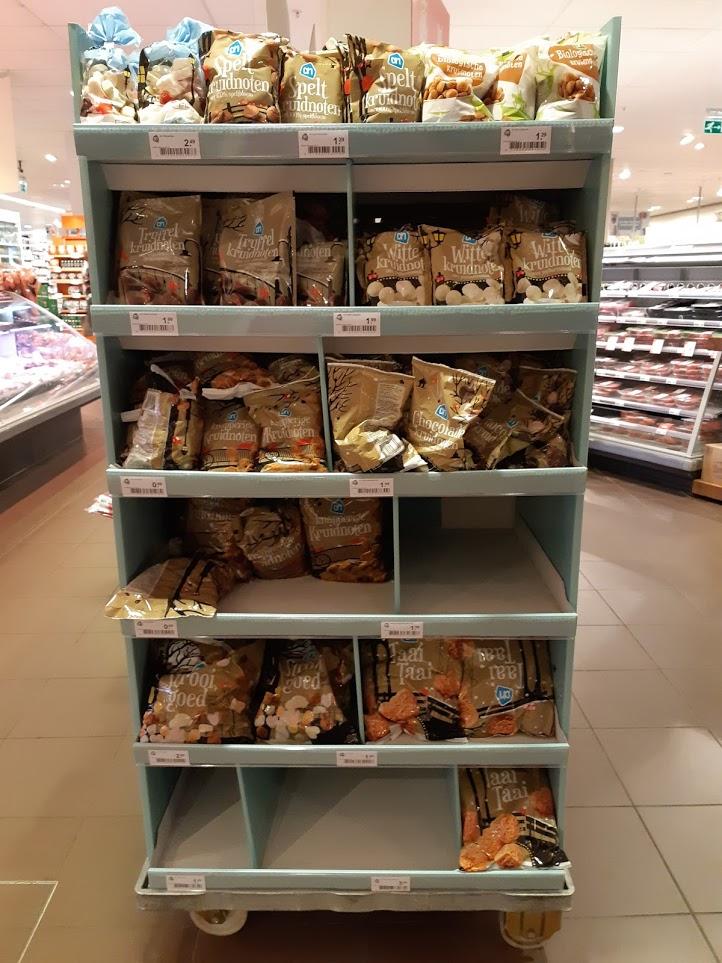 Foto supermarkt met pepernoten