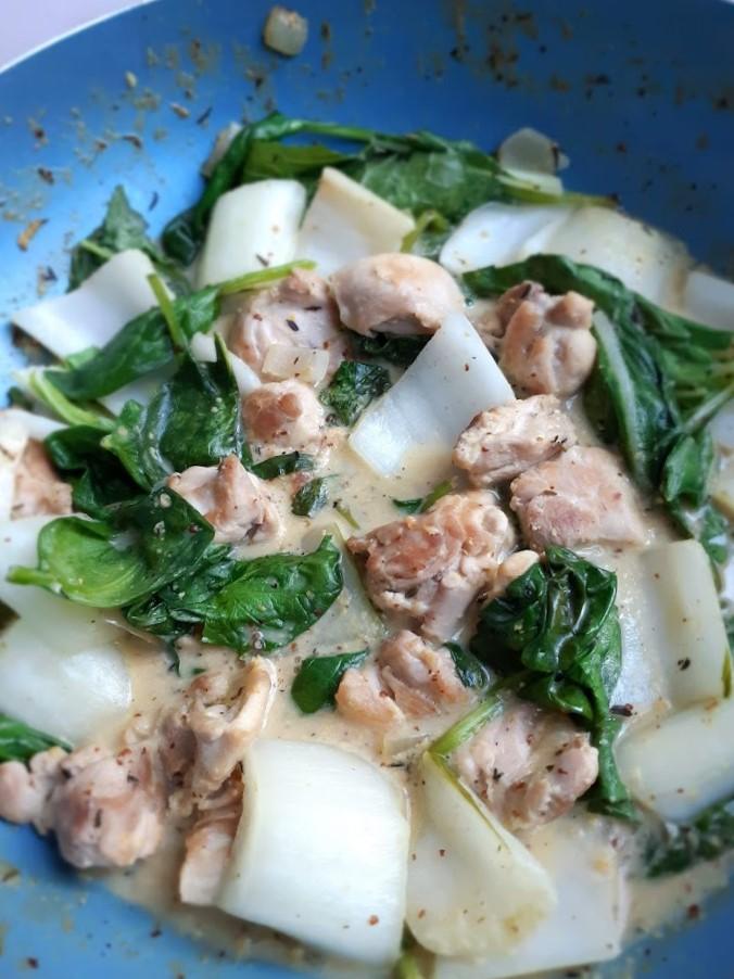 recept voor kip in mosterdsaus met paksoi