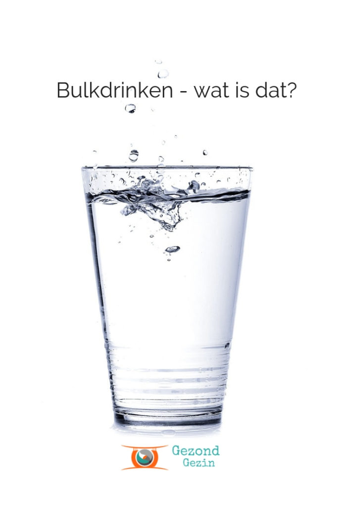 Foto water, artikel over bulkdrinken