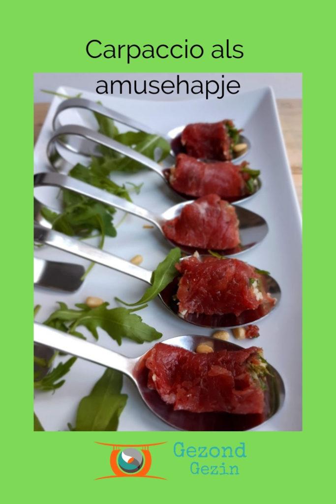 Recept voor Carpaccio als amusehapje