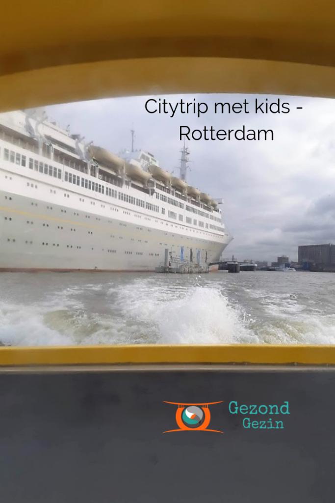 SS rotterdam gezien vanaf de watertaxi
