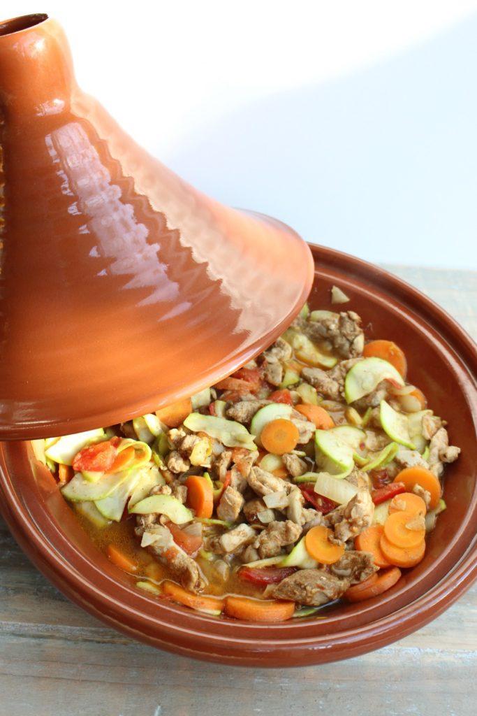 Recept voor tajine met groenten en kip