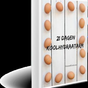 Voorkant e-book 21 dagen koolhydraatarm