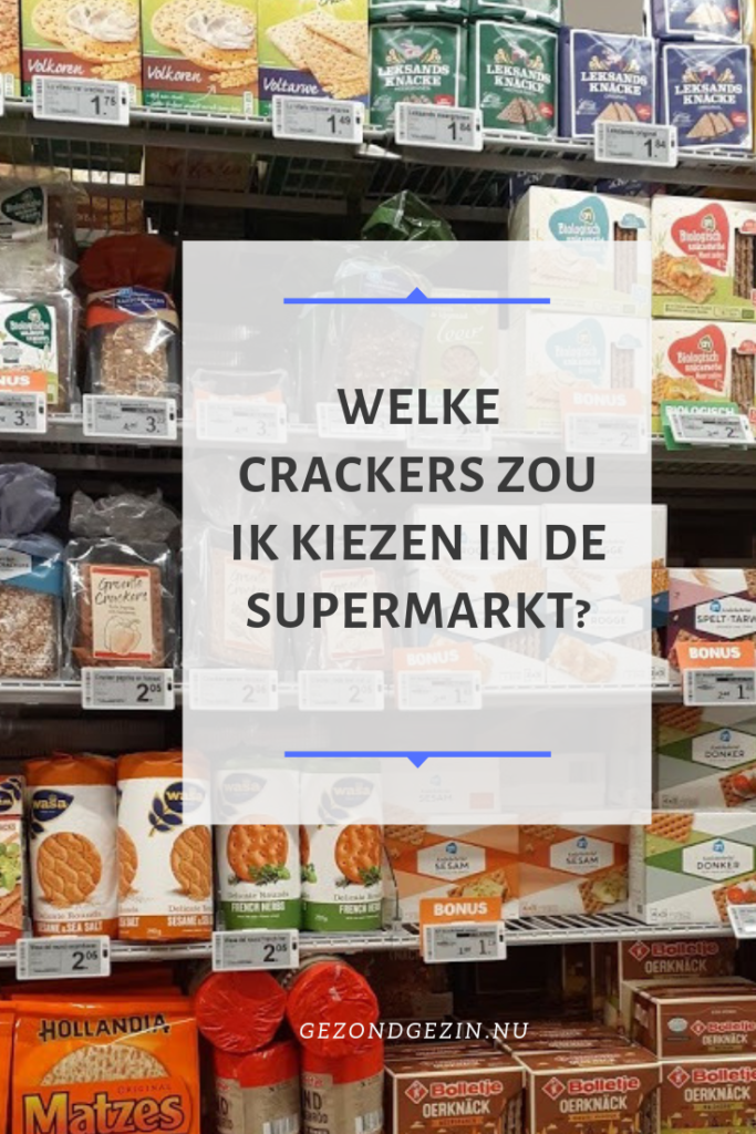 foto van crackers in de supermarkt
