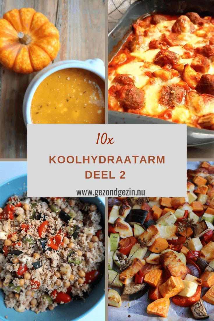 10 koolhydraatarme recepten (deel 2)