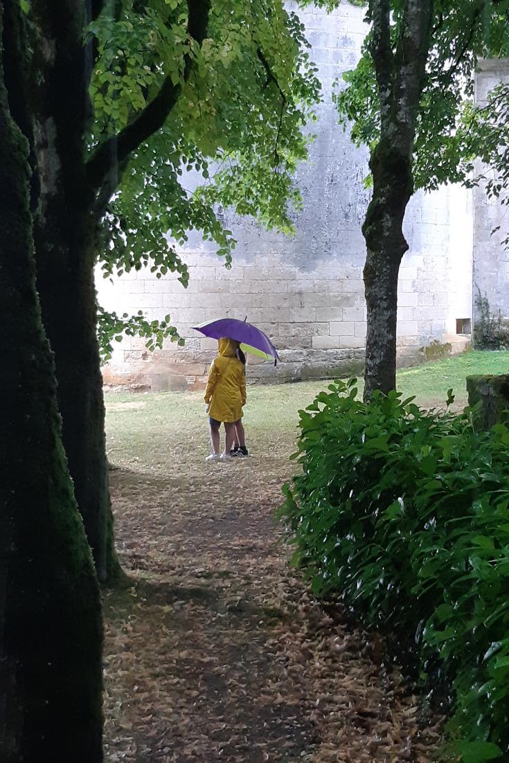 Vakantiefoto in de regen