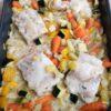 Kabeljauw met groenten uit de oven