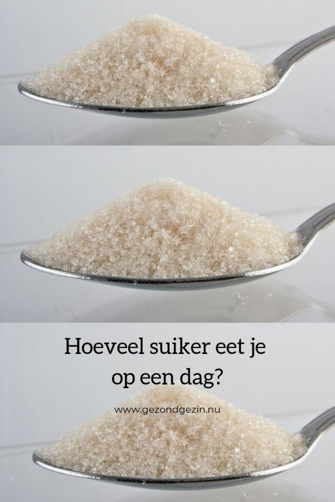 3 lepels suikers, hoeveel suiker eet je op een dag?