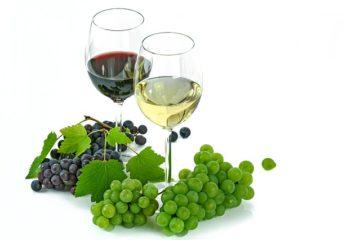 glas rode en witte wijn