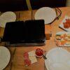 gourmetten aan tafel