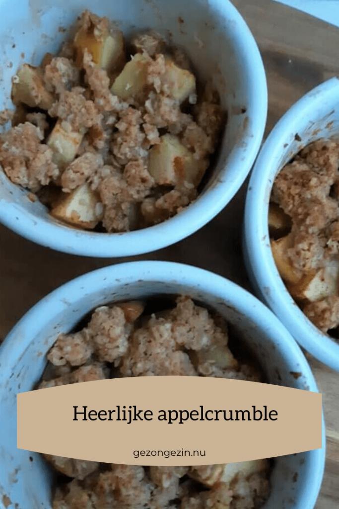 3 bakjes appelcrumble