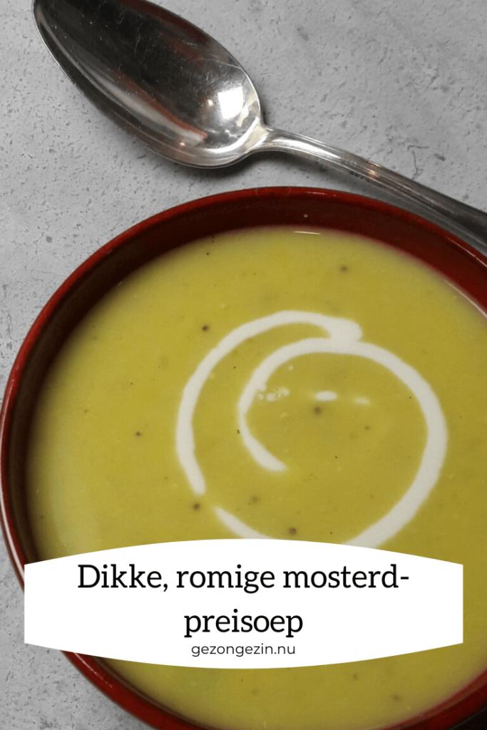 romige mosterd preisoep