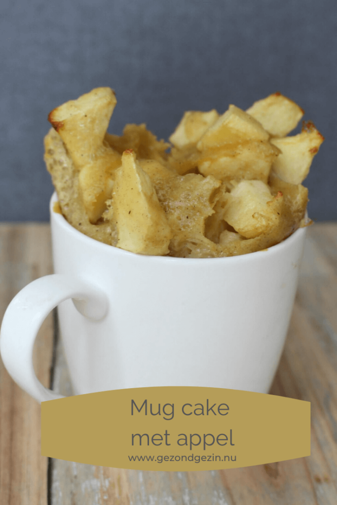 mug cake met appel