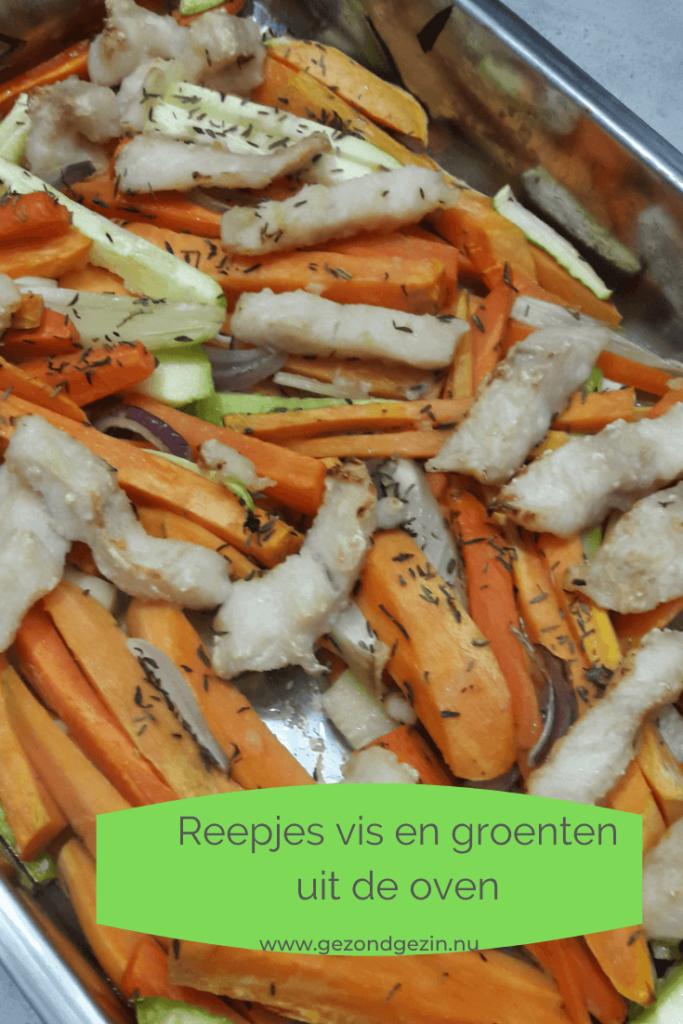 reepjes vis en groenten uit de oven
