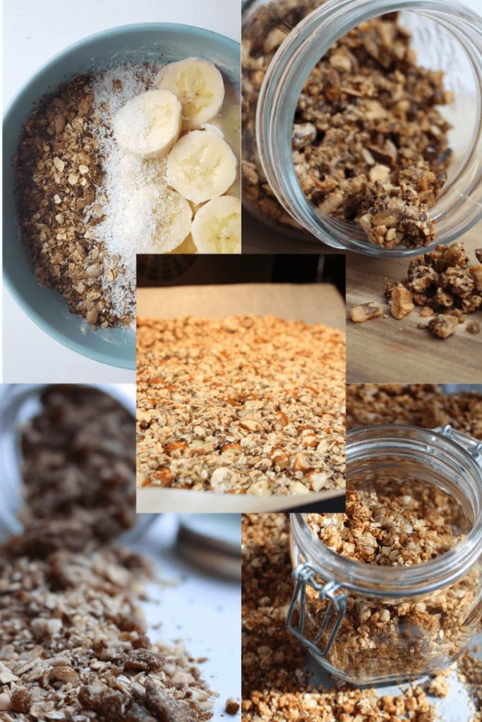 5 verschillende granola's