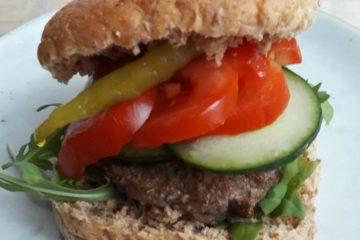 hamburger op een broodje