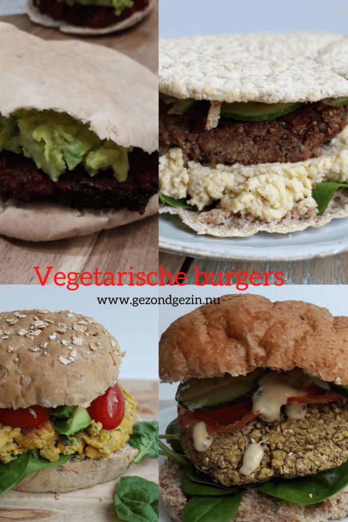 4 vegetarische burgers