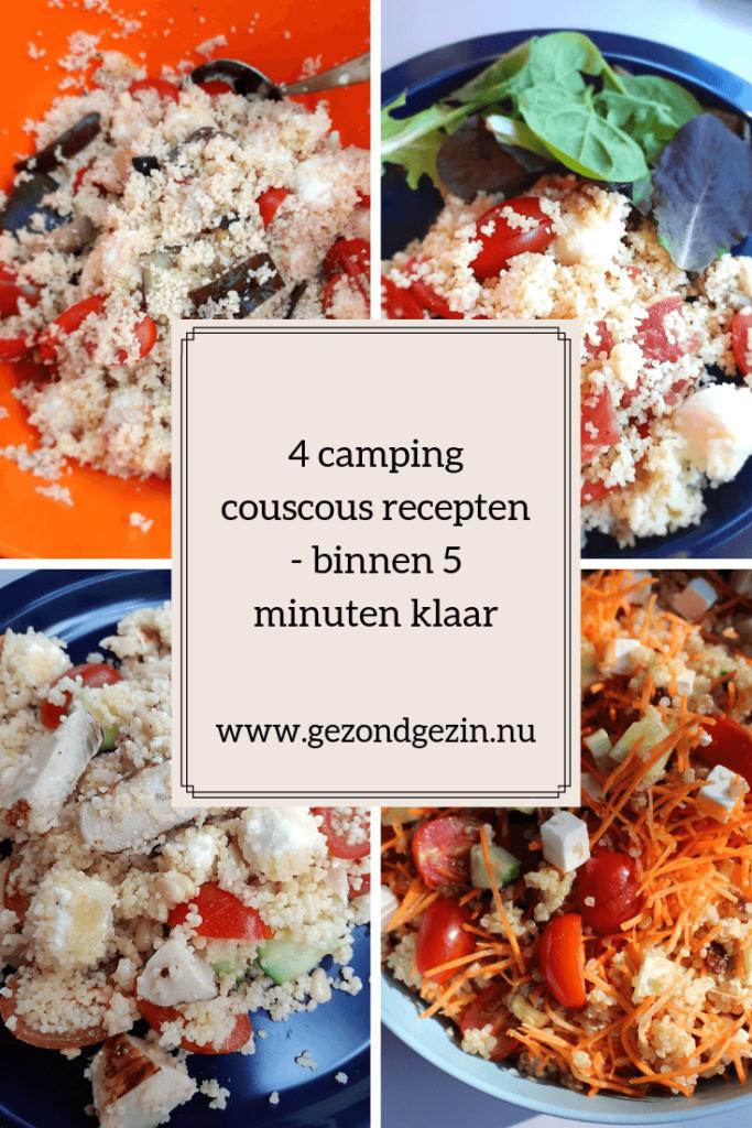 4 x camping couscous recepten