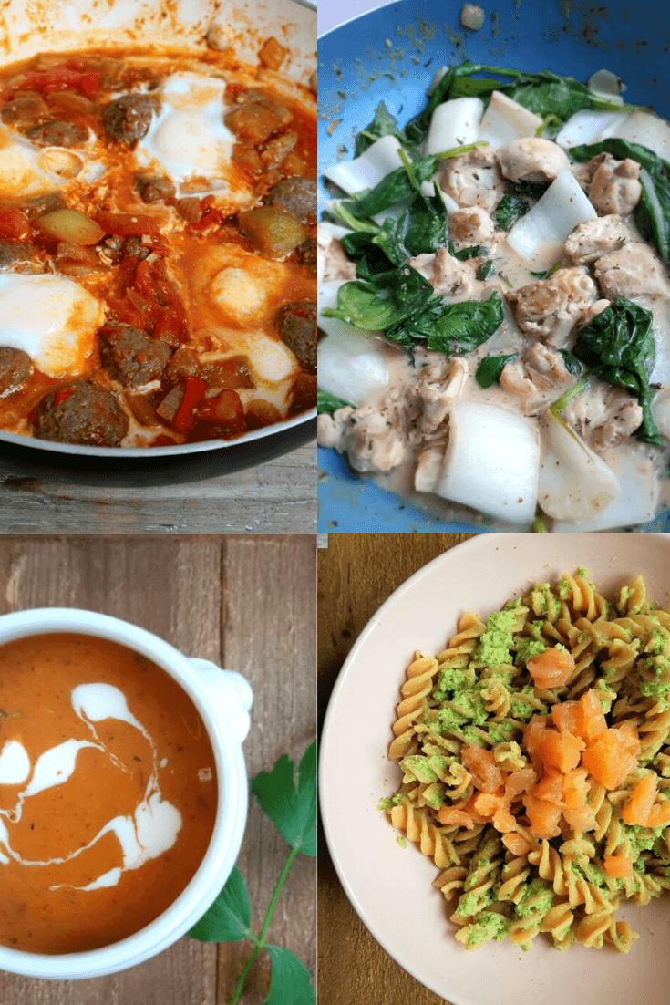 4 maaltijden voor weekmenu #1