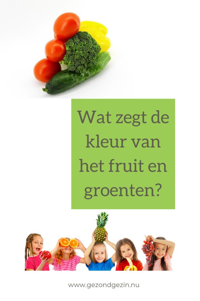 wat zegt de kleur van het fruit en groenten