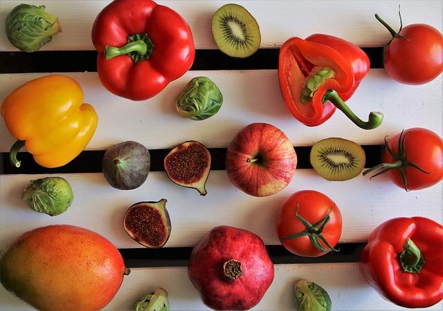 gekleurde groenten