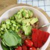 salade 1 couscoussalade spinazie avocado tomaat paprika