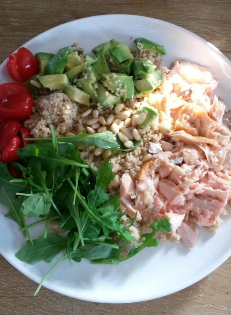 salade 5 met zalm en groenten