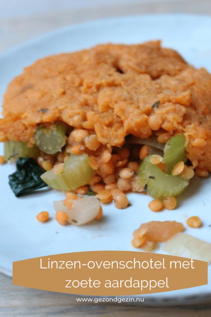 Linzen-ovenschotel met zoete aardappel