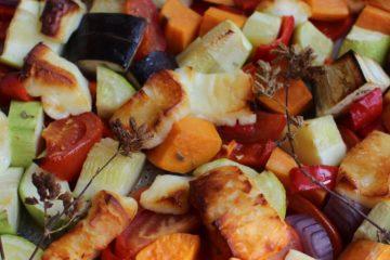 gegrilde groenten met halloumi