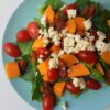 salade met zoete aardappel tomaatjes en eta