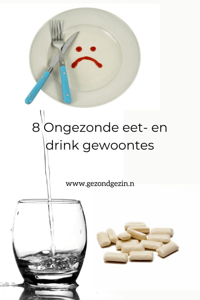 8 Ongezonde eet- en drink gewoontes