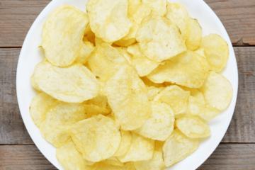 bakje naturel chips