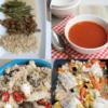 weekmenu met afbeeldingen van 4 gerechten