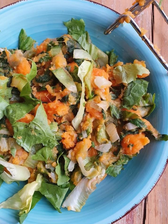 Zoete aardappel - andijviestamppot (1)