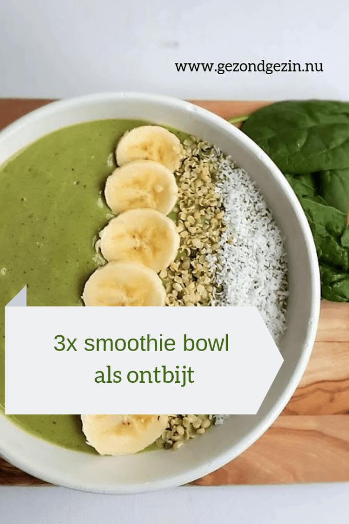 Afbeelding van smoothie bowl om recepten te pinnen op pinterest