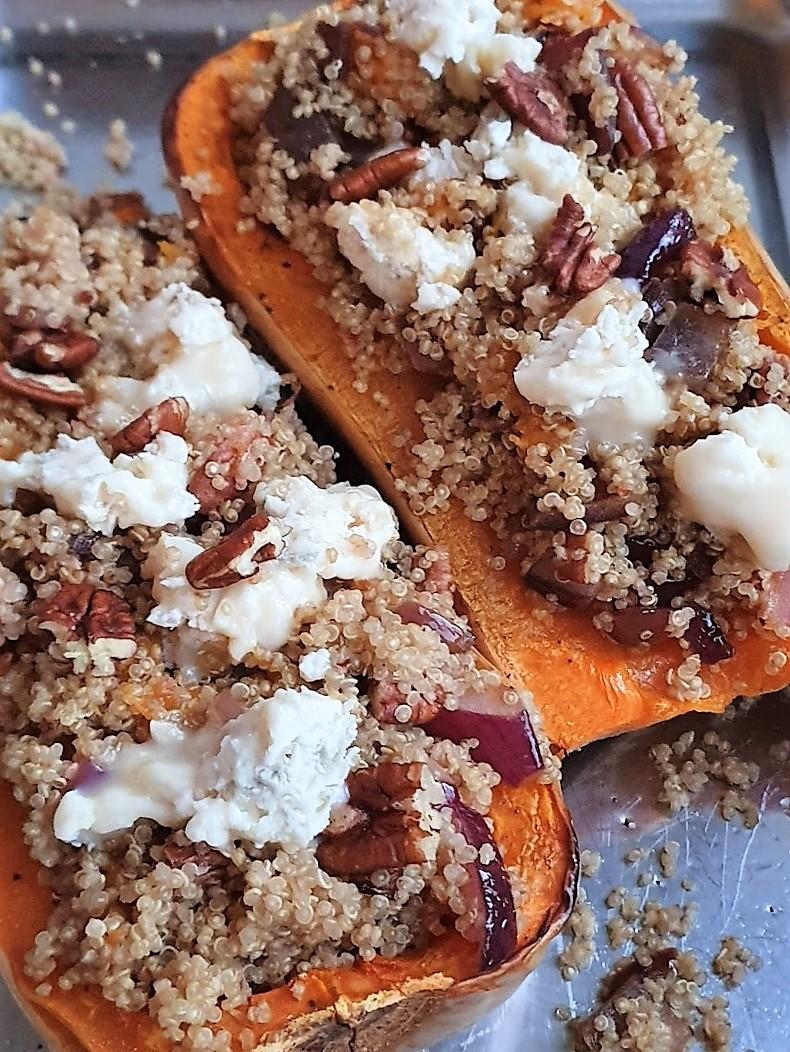 Gevulde pompoen met quinoa