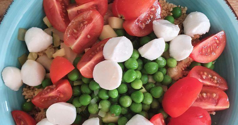 Couscous met gebakken courgette